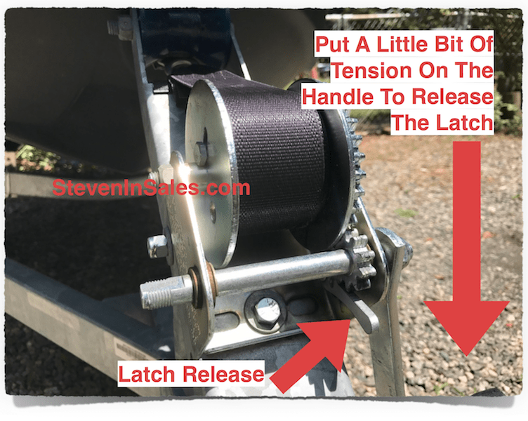 Release front bow hook strap