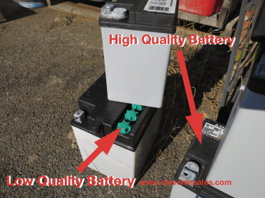 High quality and low quality jet ski battery