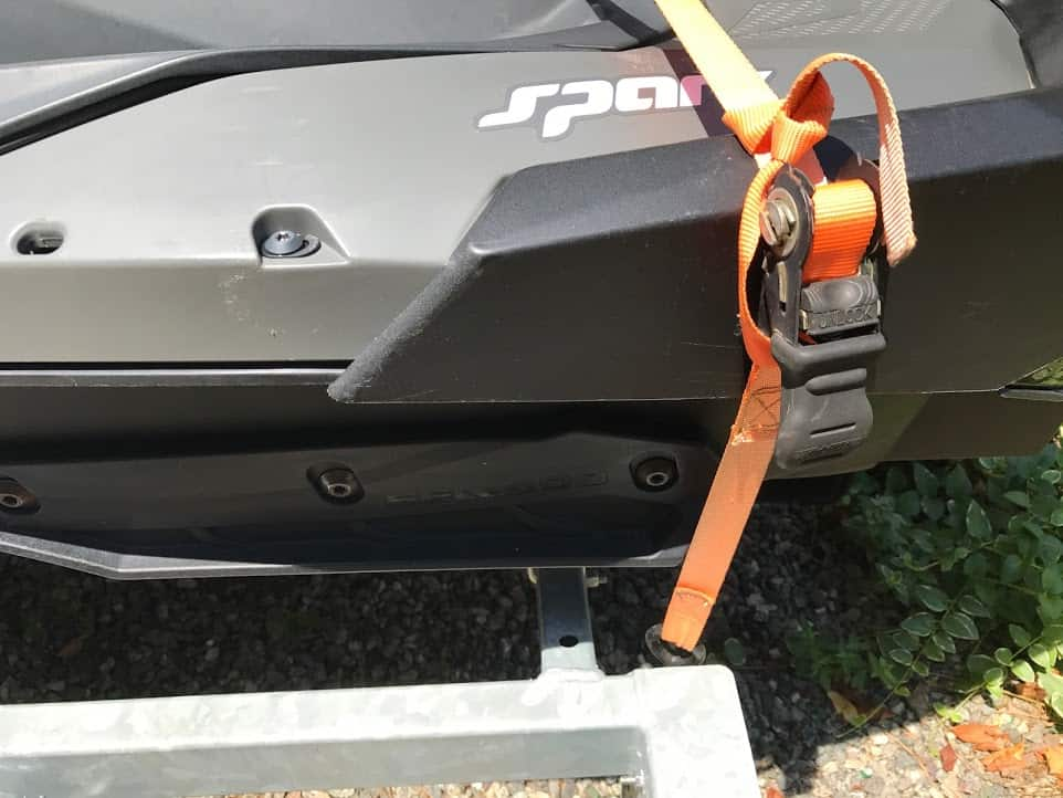 strap holding jet ski