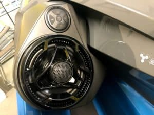 jet ski speaker system on Sea-Doo GTX with music controls