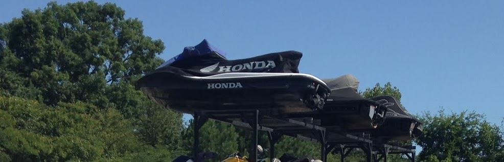Honda watercraft in storage