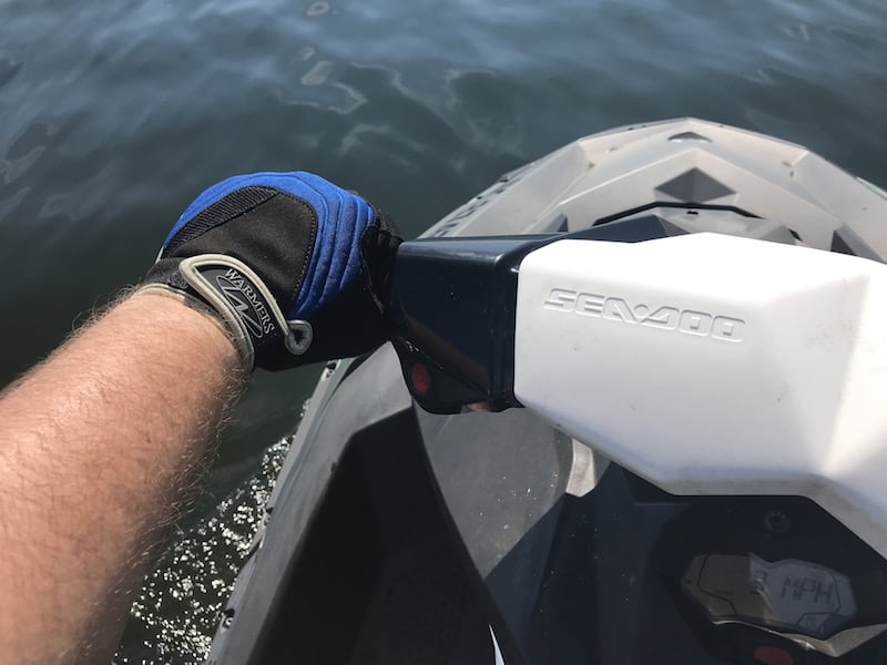 jetski riding gloves while on jet ski
