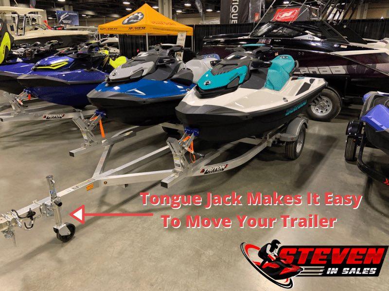 Jet ski tongue jack makes it easy to move